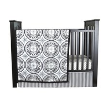 Medallions 3 Piece Crib Bedding Set