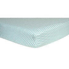 Chevron Print Flannel Crib Fitted Sheet