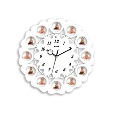 """15.74"""" Picture Frame Wall Clock"""