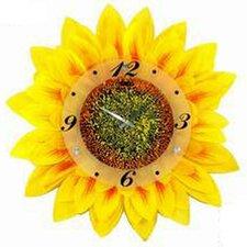 """17.34"""" Sunflower Wall Clock"""