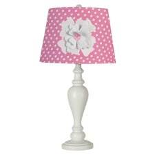 "Flower 13"" H Table Lamp with Empire Shade"