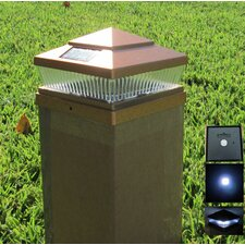 Solar Cap 5 Light Outdoor Fence Post Cap