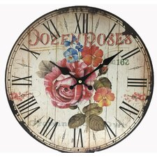 "13"" Rose Wall Clock"