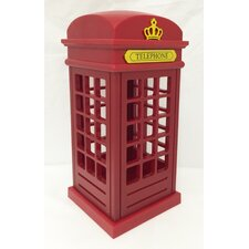 "Decorative British Telephone Booth Novelty 9.25"" Table Lamp"