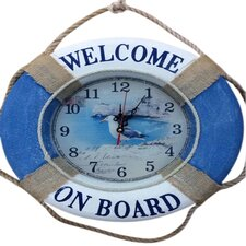 """16.7"""" Welcome on Board with Seagull on the Face Wall Clock"""