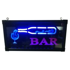 Bottle and Cup Bar Sign