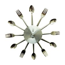 """13.97"""" Forks and Spoons Wall Clock"""