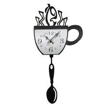 Cup and Pendulum Acrylic Wall Clock