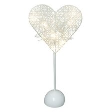 """16"""" H Table Lamp with Novelty Heart Shade"""