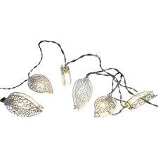 10 Light Metal Leaves String Lighting