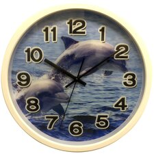 """12"""" Clock with Dolphin Design with 3D Hologram Clock Face"""