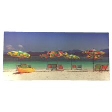 '3D Printing with Beach Chairs and Umbrellas' Photographic Print on Canvas