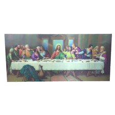 '3D Paint with Last Supper' Graphic Art on Canvas