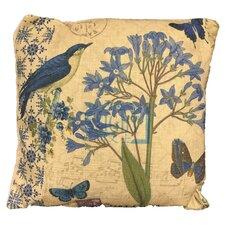 Flower and Bird Throw Pillow