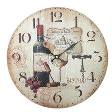 "13.38"" Wall Clock in Wine Design"