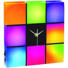 """Color Changing LED Panel Clock 9.8"""" H Table Lamp"""