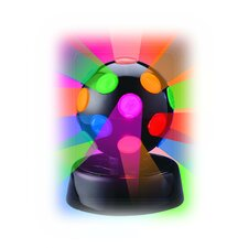 "Rotating Disco Ball Light 6.5"" H Table Lamp with Sphere Shade"