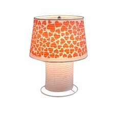 """Heart Desk Paper 11.81"""" H Table Lamp with Empire Shade"""