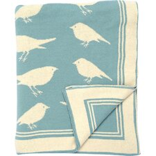 Bird Cotton Throw