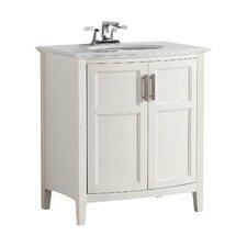 "Winston 31"" Single Rounded Front Bathroom Vanity Set"