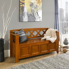Amherst Wood Storage Entryway Bench