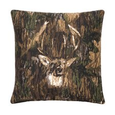 Camo Deer Cotton Throw Pillow