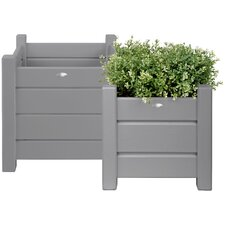 2 Piece Square Planter Set