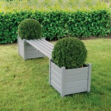 2 Seater Wooden Planter Bench