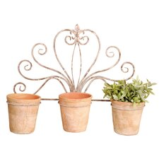 Aged Metal Novelty Wall Mounted Planter