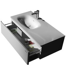 "Kandinsky 35.4"" True Solid Surface Bathroom Vanity Set"