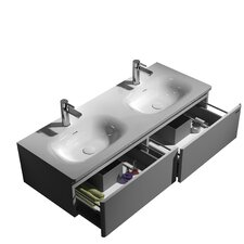 "Joost 47.24"" True Solid Surface Single Sink Vanity Set with Cabinet"