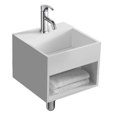 "Lothar 13"" True Solid Surface Single Sink Vanity Set with Cabinet"