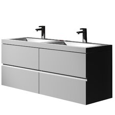 "Gerhard 47.24"" True Solid Single Sink Vanity Set with Cabinet"
