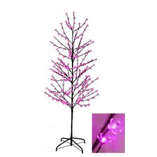 Enchanted Garden 6' Cherry Blossom Flower Christmas Tree with 280 LED Pink Lights