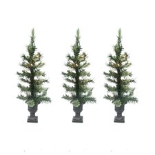 Pre-Lit Cashmere Mix Potted Artificial Christmas Tree