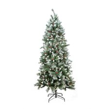 7' Snow Pine Artificial Christmas Tree with Clear Light