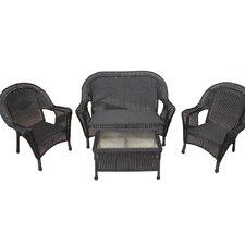 4 Piece Wicker Patio Furniture Set