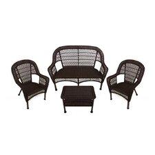 4 Piece Resin Wicker Patio Furniture Set