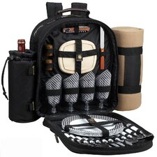 Classic Backpack with Blanket and Four Place Settings