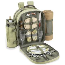 Hamptons Backpack with Blanket and Two Place Settings