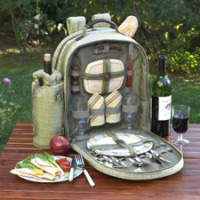 Hamptons Picnic Backpack with Two Place Settings