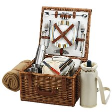 Cheshire Basket for Two with Coffee Set and Blanket in Santa Cruz
