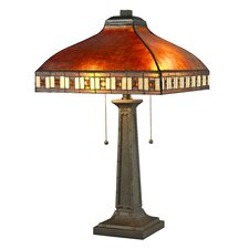 "Crimson 2 Light 24"" H Table Lamp  with Bowl Shade"
