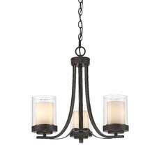 Willow 3 Light Candle Chandelier