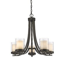 Willow 5 Light Candle-Style Chandelier