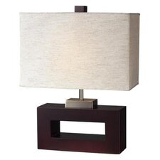 "Portable 19.5"" H Table Lamp with Rectangular Shade"