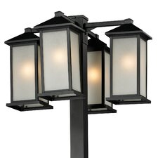 """Vienna 4 Light 99"""" Outdoor Post Lantern Set"""