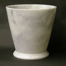 Waste Basket in White Marble