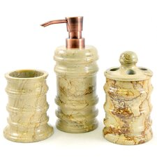 Bengal 3 Piece Sahara Beige Marble Bathroom Accessory Set