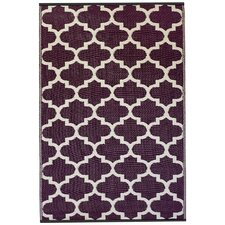 World Tangier Purple & White Indoor/Outdoor Area Rug